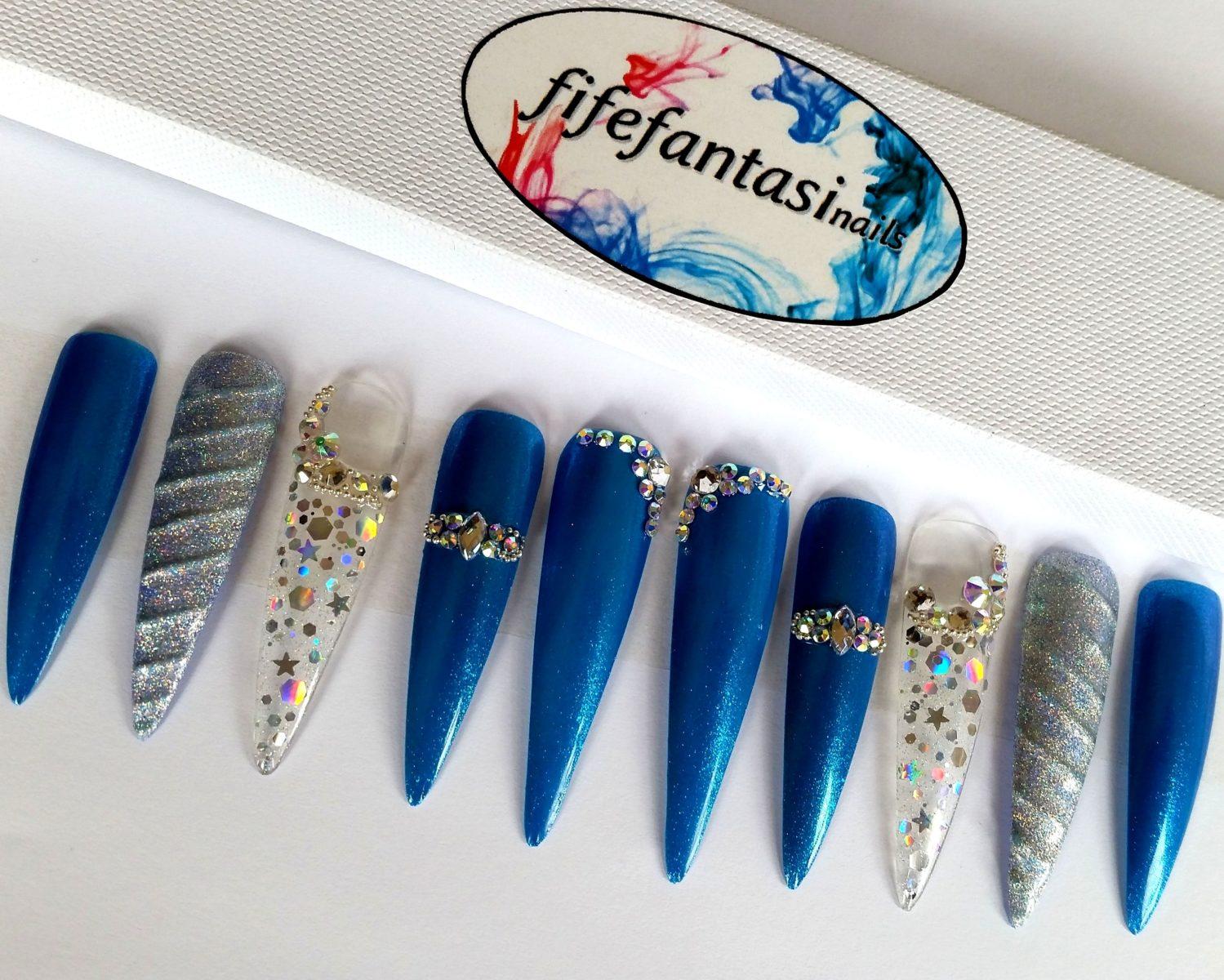 Mermaid Stiletto Nails – Fife Fantasi Nails